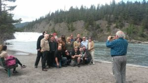 2015 Celebrity guests and Horror Con team in Banff. Stuart Gordon is taking the photo!