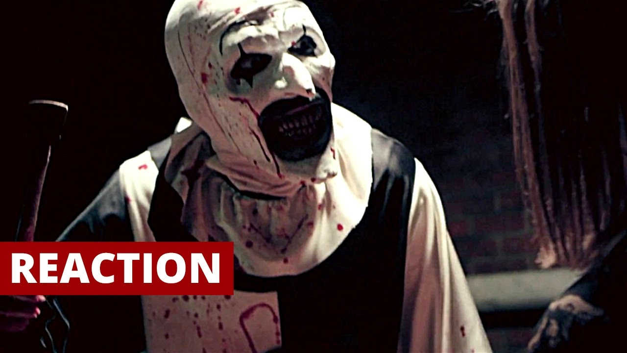terrifier  2017  official trailer reaction and review